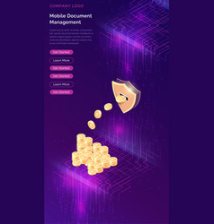 cryptocurrency mining isometric concept vector image