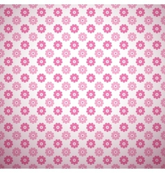 Cute abstract floral bright pattern tiling vector image