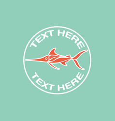 Deep sea fish logo icon design vector
