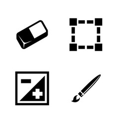 Digital design tools simple related icons vector