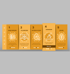 Dna test onboarding icons set vector