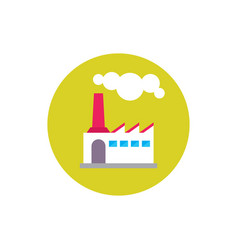 factory plant - concept icon in flat graphic vector image