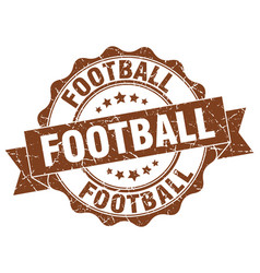 Football stamp sign seal vector