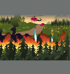 Forest firefighters vector