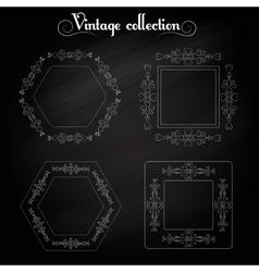 Frame vintage elements vector