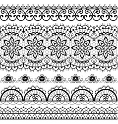 French or english lace seamless pattern set vector