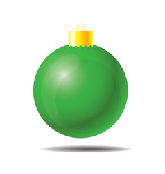 green christmas ball 01 vector image