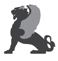 Griffin flat on white vector