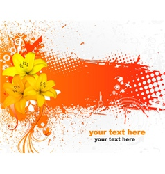 Grunge colorful floral background vector