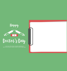 happy doctor day design flat vector image