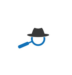 Hat and loupe for a detective spy for logo design vector