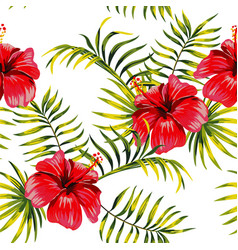 hibiscus drawing pattern vector image