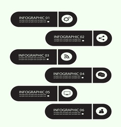 infographic buttons black vector image