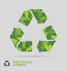 Leaf Recycle Symbol vector