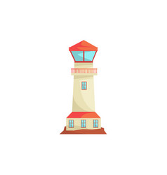 Lighthouse searchlight tower for maritime vector