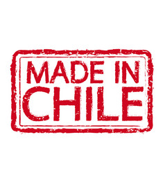 Made in chile stamp text vector