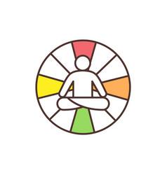 Mandala yoga rgb color icon vector