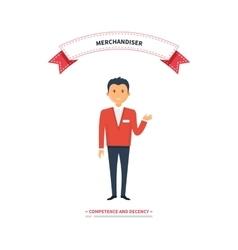Merchandiser Man Competence and Decency vector