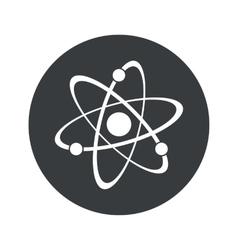 Monochrome round atom icon vector image