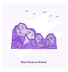 Mount rushmore national landmark purple dotted vector