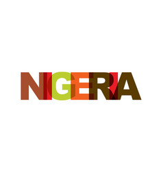 Nigeria phrase overlap color no transparency vector