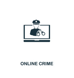 online crime icon premium style design from vector image