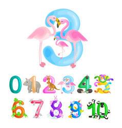 ordinal number 3 for teaching children counting vector image