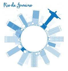 Outline Rio de Janeiro skyline vector