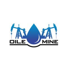 Petroleum mine logo design vector