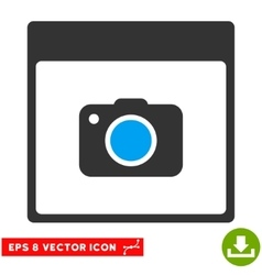 Photo Camera Calendar Page Eps Icon vector image