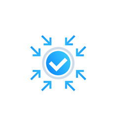 Positive impact icon vector