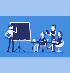presentation in the office vector image