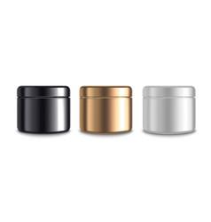realistic 3d detailed jar cosmetic cream set vector image