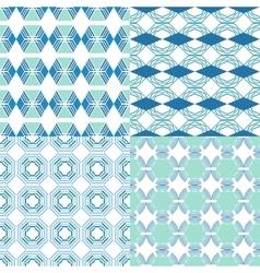 Seamless geometric patterns Decorative vector image
