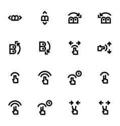 Set of touch gesture icons vector