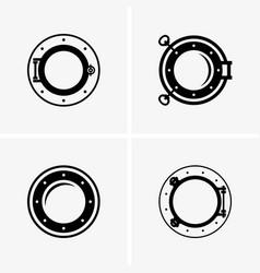 Ship porthole vector