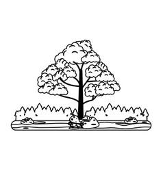 single tree icon image vector image