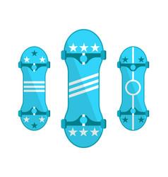 skateboards symbols isolated on white set vector image