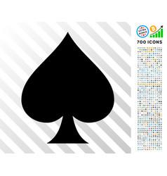 spades suit flat icon with bonus vector image