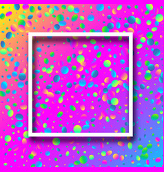 spectrum festive background with colorful confetti vector image