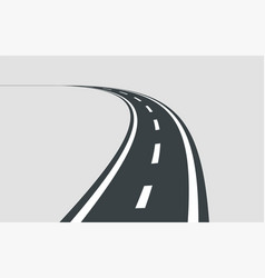 twisted road template isolated on background vector image