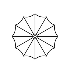 Umbrella icon in outline style vector image