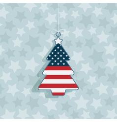 Usa christmas decoration vector