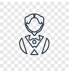 waiter concept linear icon isolated on vector image