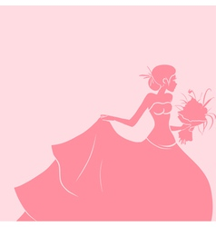 Wedding background with bride vector image