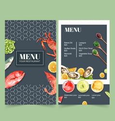 World food day menu for restaurant design vector
