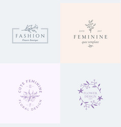 abstract feminine signs or logo templates vector image vector image