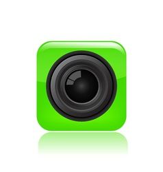 camera eye icon vector image