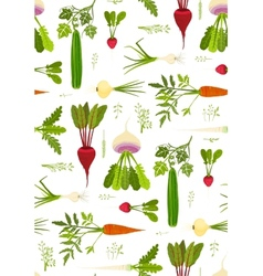 Leafy Vegetables and Greens Seamless Pattern vector image