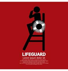 Lifeguard vector image vector image